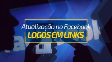 Atualização no Facebook – Logos em links