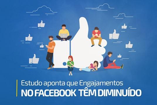 Estudo aponta que engajamentos no Facebook têm diminuído