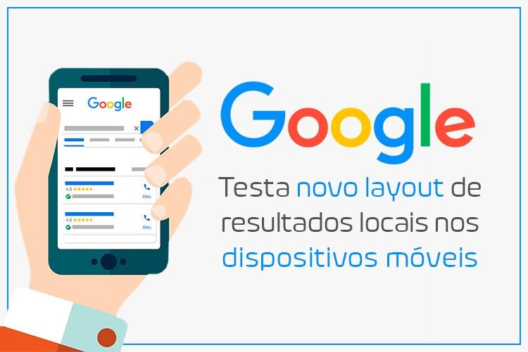 Google testa novo layout de resultados locais nos dispositivos móveis